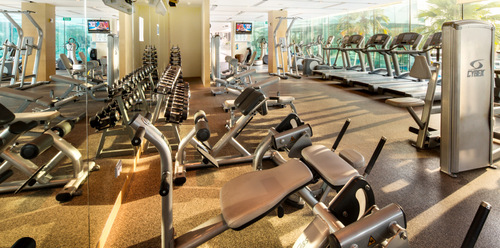Fitness centre at ONE°15 Marina Sentosa Cove Singapore.