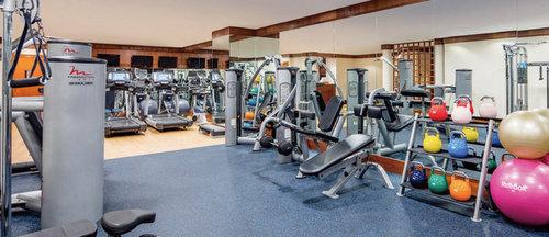 Fitness centre at Regent Singapore hotel.