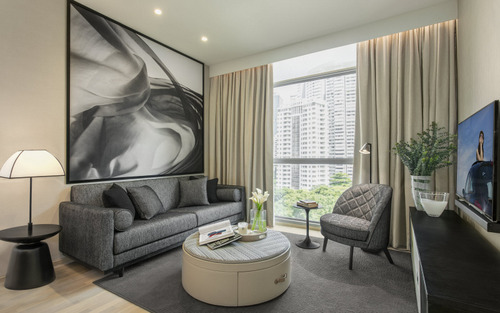 Guest apartment at Ascott Orchard Singapore.
