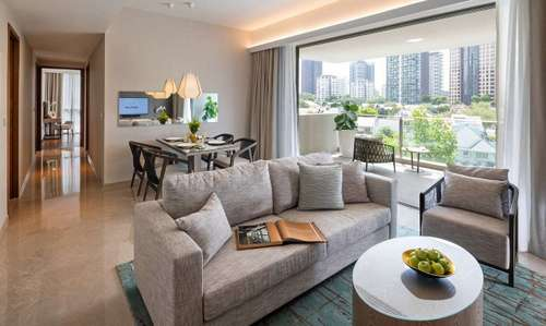 Guest apartment at Fraser Residence Orchard, Singapore.