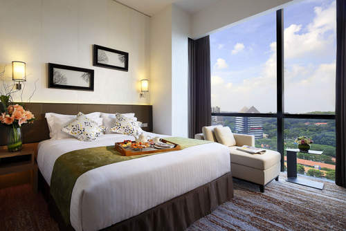 Guest room at Park Hotel Alexandra Singapore.