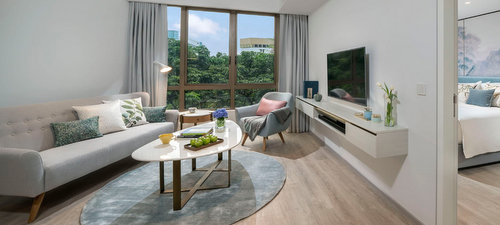 Guest apartment at Winsland Serviced Suites by Lanson Place in Singapore.
