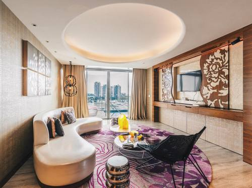 Guest suite at W Singapore - Sentosa Cove.