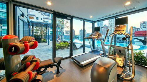 Fitness centre at Oakwood Studios Singapore.