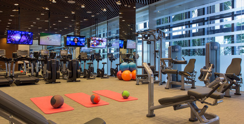 Fitness centre at One Farrer Hotel in Singapore.