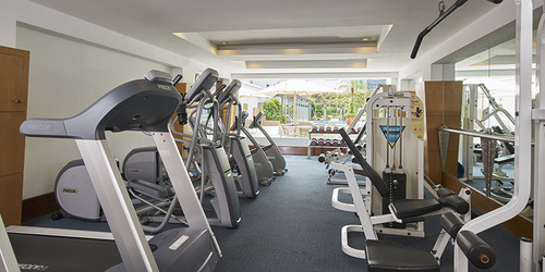 Gym at Village Residence Clarke Quay in Singapore.