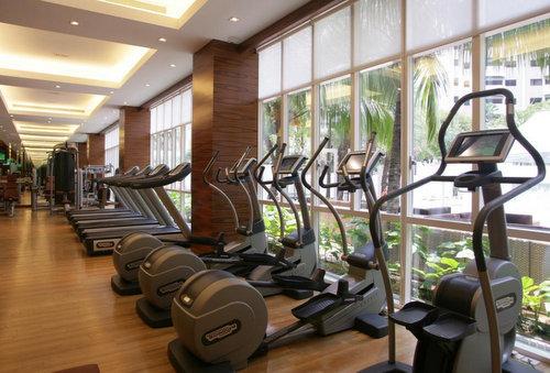 Gymnasium at Orchard Scotts Residences in Singapore.
