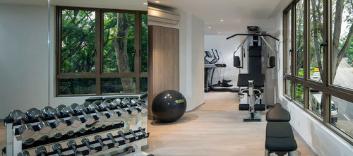 Gymnasium at Guest apartment at Winsland Serviced Suites by Lanson Place in Singapore.