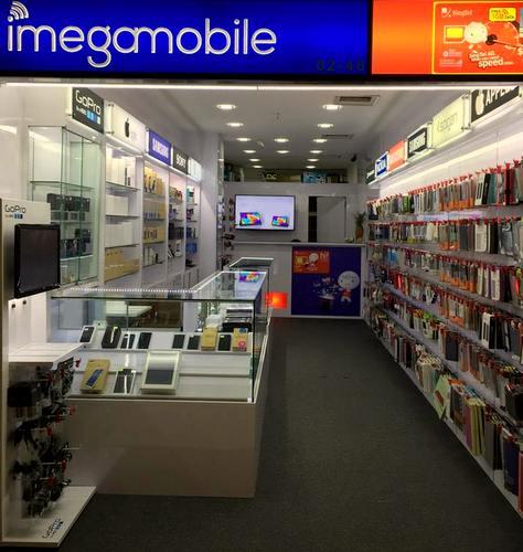 iMegaMobile shop at Far East Plaza mall in Singapore.