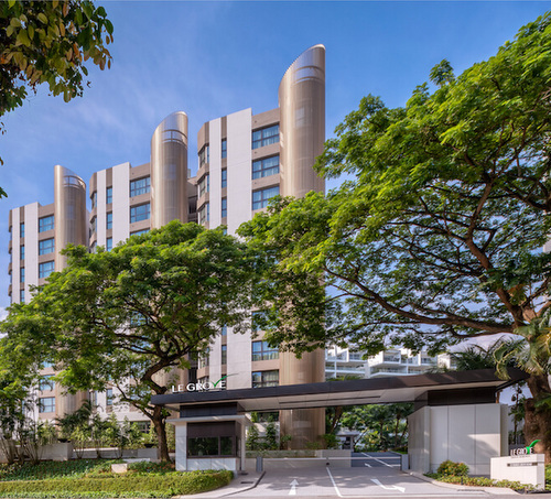 Le Grove serviced residences in Singapore.