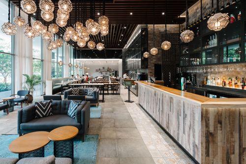 Lobby Bar at Destination Singapore Beach Road hotel.