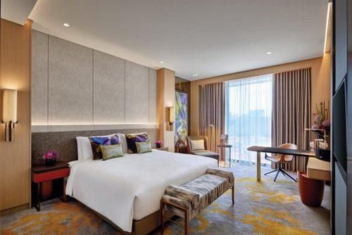 Luxury Premium Room at Sofitel Singapore City Centre.