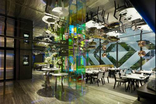 Mitzo restaurant at Grand Park Orchard in Singapore.