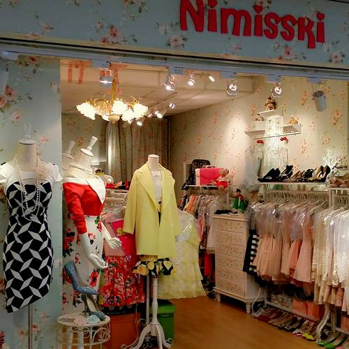 Nimisski clothing shop at Far East Plaza mall in Singapore.