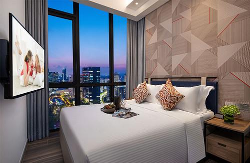One bedroom executive apartment at Citadines Balestier Singapore.