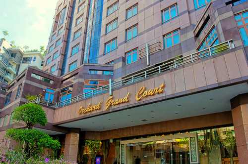 Orchard Grand Court apartment hotel in Singapore.