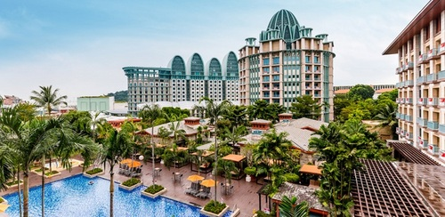 Outdoor swimming pool at Festive Hotel Singapore.