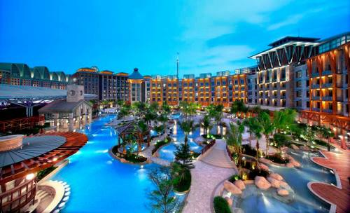 Free-form swimming pool at Hard Rock Hotel - Resorts World Sentosa, Singapore.