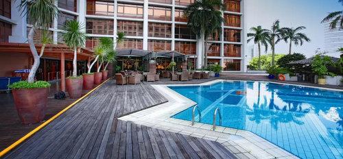 Swimming pool at Village Hotel Bugis in Singapore.