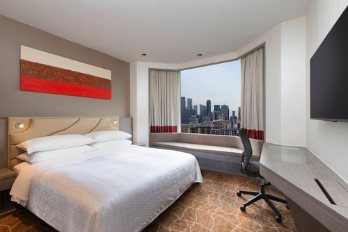Premium King City View room at Four Points by Sheraton Singapore, Riverview.
