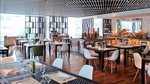 Shutters restaurant at Amara Sanctuary Resort Sentosa in Singapore.