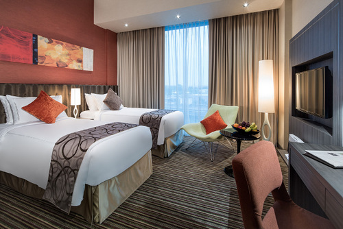 Superior guest room at Park Avenue Changi hotel Singapore.