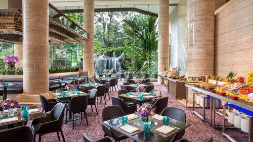 The Dining Room at Sheraton Towers Singapore Hotel.