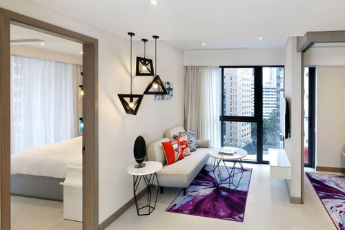 Two-Bedroom Family Deluxe Apartment at Oakwood Studios Singapore.