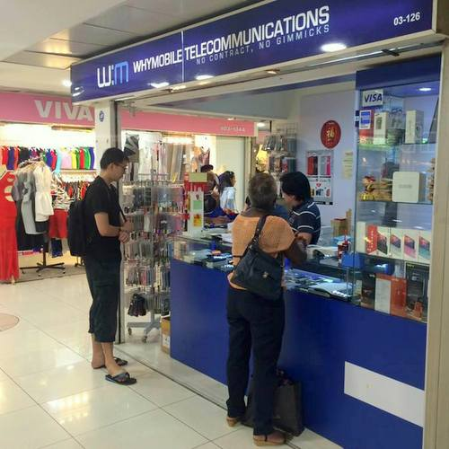 WhyMobile Shop in Singapore - Far East Plaza.