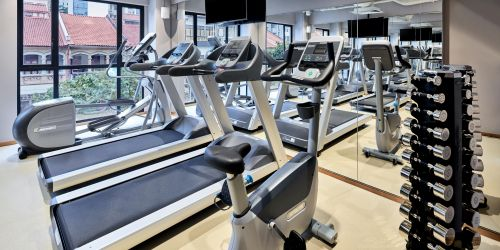 24-hour fitness centre at Holiday Inn Express Serangoon Singapore hotel.