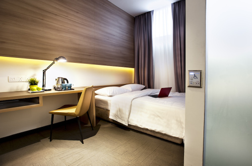 Classic room at Hotel NuVe in Singapore.