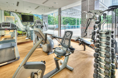 Fitness centre at Orchid Hotel in Singapore.