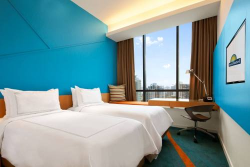 Guest room at Days Hotel Singapore.