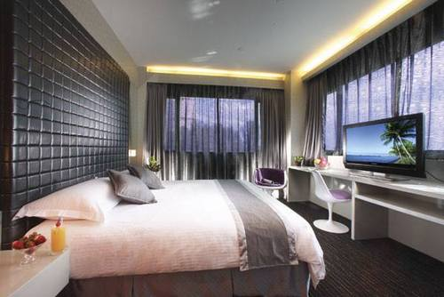 Guest room at Hotel Re! Singapore.
