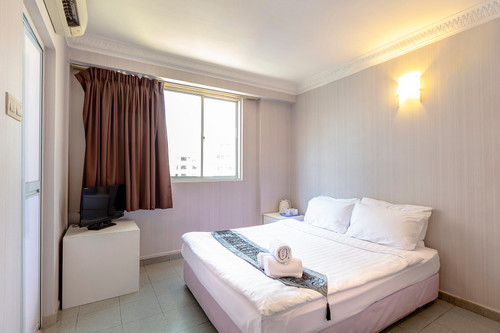 Guest room at K Hotel 12 Singapore.