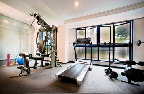 Fitness room at Harbour Ville Hotel in Singapore.