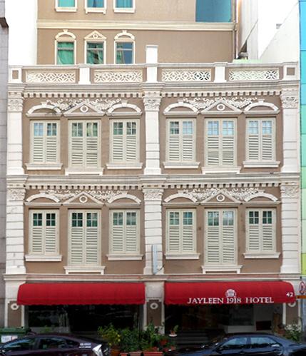 Jayleen 1918 Hotel - 3 Star Hotel in Singapore.