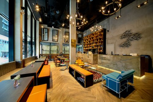 Lobby lounge at Hotel Yan Singapore.