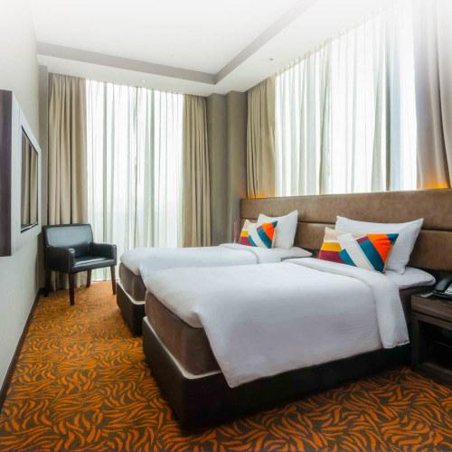 Premium Room at Aqueen Paya Lebar Hotel in Singapore.
