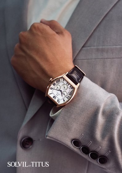 Solvil et Titus Watch - Barista Multi-Function Quartz Leather Watch.