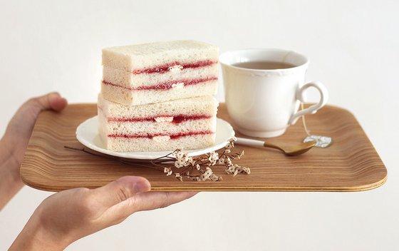 Strawberry Sandwich and Tea.