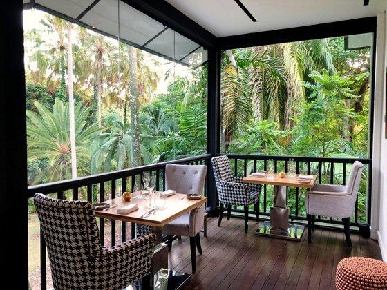 Corner House - 1 Michelin Star Restaurant in Singapore.