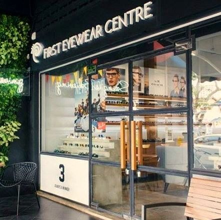 First Eyewear Centre optical store in Singapore.
