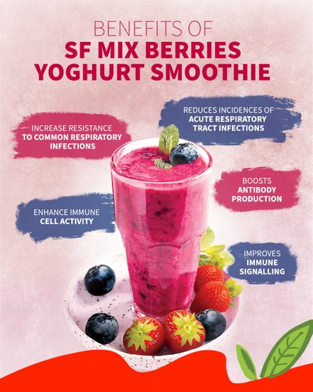 Mix Berries Yoghurt Smoothie - SF Fruits outlets.