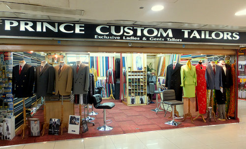 Prince Custom Tailors shop at Far East Plaza mall in Singapore.