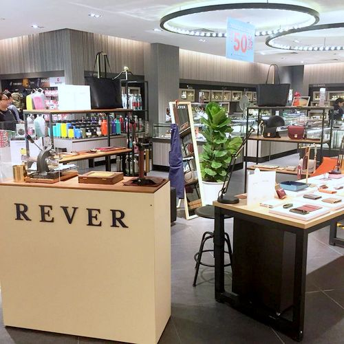 Rever leather goods shop at Tangs Plaza in Singapore.