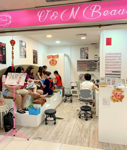 V&N Beauty salon at Far East Plaza mall in Singapore.