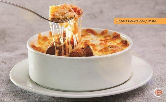 Cheese Baked Pasta / Rice - Eighteen Chefs Restaurants in Singapore.