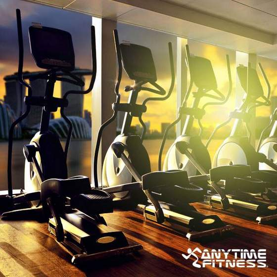 Anytime Fitness crosstrainers.
