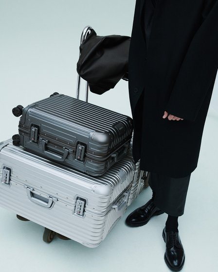 RIMOWA Luggage Singapore - Original Trunk in Silver and the RIMOWA Original Cabin in Mercury.